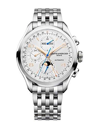 Baume & Mercier Clifton uomo cronografo calendario completo orologio da uomo quadrante nero 10279