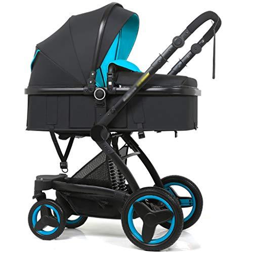 Passeggino Carrello for passeggino for bambini ad alto paesaggio for passeggino che può sedere Carrello for passeggino pieghevole pieghevole a due vie con ammortizzatore Carrozzina (Color : B)
