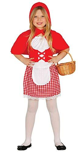 Enter-Deal-Berlin Mädchen Karneval Kostüm Rotkäppchen Größe 125-135 cm ( 7-9 Jahre ) rot weiß