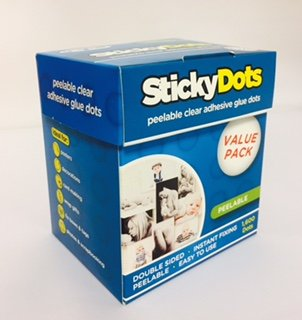 U-Glue Sticky Dots Peelable Extra Strength Adhesive Value Pack of 1600 x 10mm