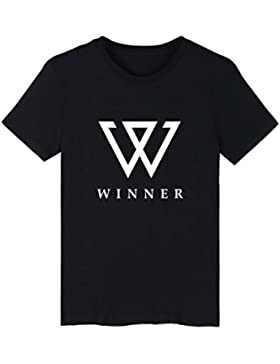 DJS KPOP Ganador de la Moda Coreana Hiphop MINO Song Min Ho NAM Tae Hyun Estilo de Verano Capital W Print Camiseta...