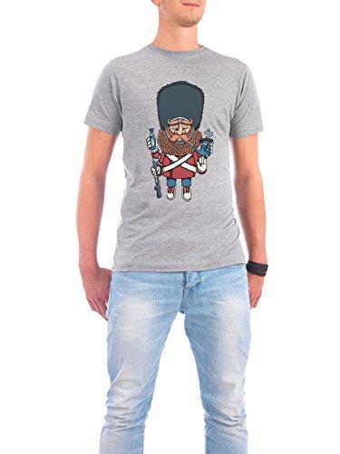 "Design T-Shirt Männer Continental Cotton ""Royal Life Guard"" - stylisches Shirt Comic Städte / København Streetart von Copenhagenposter Grau"