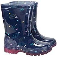 Mountain Warehouse Splash Gummistiefel mit Blinklichtern für Kinder - Strapazierfähig, blinkende Sohlen, Pflegeleichte Wanderschuhe - Ideale Regenstiefel Blaugrün 24 EU