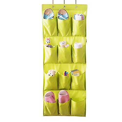 Borsa portaoggetti da parete organizzatore, armadio organizzatore,lino/cotone tessuto 12 tasche parete porta armadio hanging dell'organizzatore immagazzinaggio del sacchetto dell'organizzatore