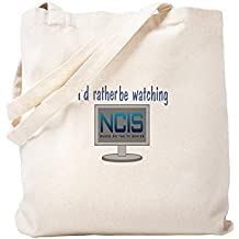 CafePress Rather Be Watching NCIS - Bolsa, lona, caqui, Small