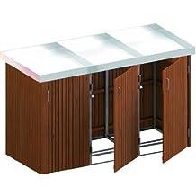 BINTO Mülltonnenbox Hartholz, Müllbox System 19