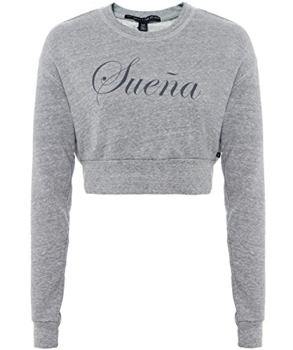 True Religion Suena Cropped Sweater Grigio M