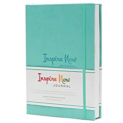 Inspire Now Journal – A5 Daily Productivity Planner, Daily Organiser, Weekly Planner, Set & Achieve Your Goals, Get Things Done. (Turquoise)