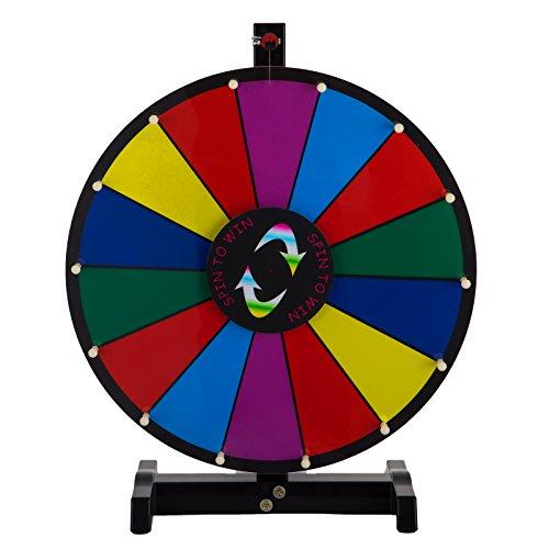 BuoQua 18Inch Gioco Ruota Della Fortuna Da Tavolo Lunga 3.8kg Roulette Casinò E Attrezzature Il Supporto Sfondo Colorato Da Tavolo Fortune Spinning Prize Wheel per Spin Game Carnival