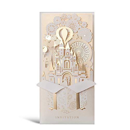 Wishmade 50 X Kits de Tarjetas de invitaciones de boda,...