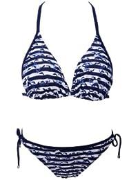 W23732 Triangel Bikini Set mit Delfinen