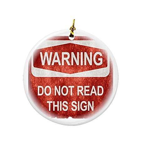 Rikki Knight Warning. Do Not Read This Sign Design Round