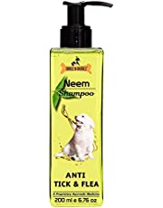 Dogz & Dudez Dogs and Cats Shampoo Anti Tick & Flea | Organic Natural Neem & Lemongrass ● Anti Itching, Insect Repellent ● 200 ml - One Month Supply