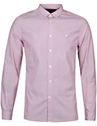 Lyle & Scott Ruby Fine Stripe Penny Collar Shirt-LARGE