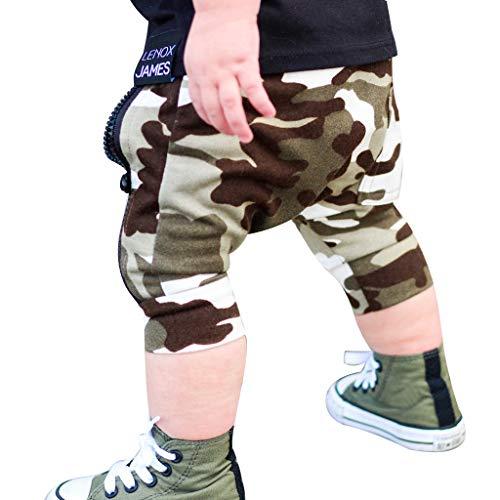 Zylione Boy Hose Kinder Baby Camouflage Reißverschluss Kurze Hosen Pluderhosen (Stilvolle Baby-jungen Wickeltasche)