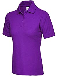 af8e67f6323ae Ladies Pique Polo Shirt Size UK 8 to 26 Plus All Colours NEW Casual Sports  Gym