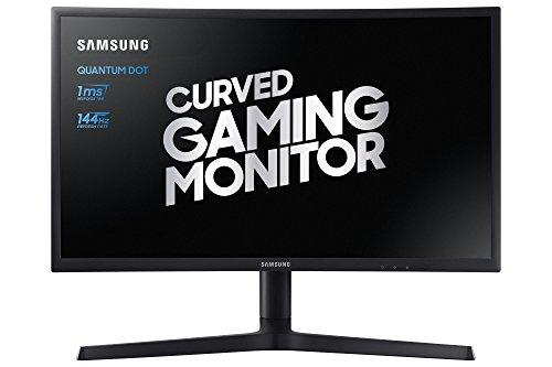 "Foto Samsung C24FG73 Monitor Curvo VA da Gaming, 24"" Full HD, 1920 x 1080, 144 Hz, 1 ms, FreeSync, DP, HDMI, 16.7M di Colori, sRGB 125%, Game Mode, Quantum Dot, Base a Doppio Snodo Nero"