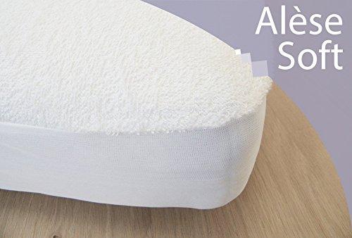 Kadolis Protections de Matelas pour Berceaux Alèse Bébé Coton Prima 40X80 cm Blanc