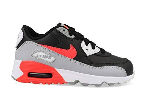Nike Unisex Baby Air Max 90 Ltr (td) Hausschuhe, Mehrfarbig (Wolf Grey/Bright Crimson/Black/White 024), 21 EU