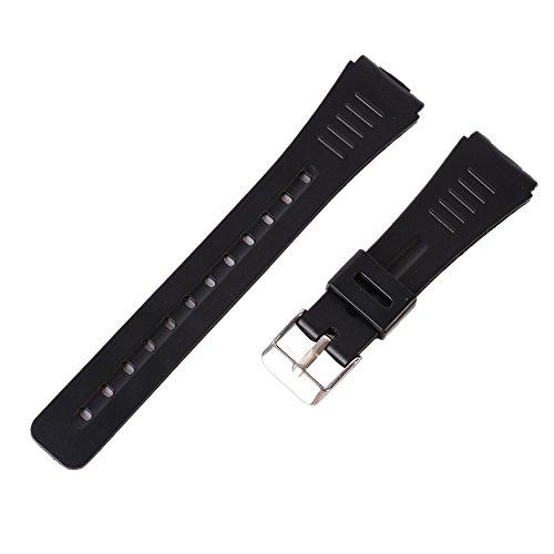 Wingbind Bande de remplacement de montre de sport imperméable à l'eau pour la sangle de montre de plongée en caoutchouc de silicone de Casio 12mm/14mm/18mm/20mm/22mm