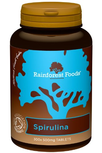 Rainforest Foods Organic Spirulina Tablets 500mg Pack of 300 Test