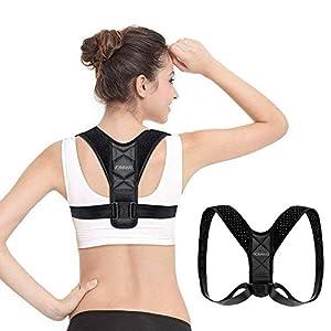 Haltungskorrektur Geradehalter Schulter Rücken Haltungsbandage, VOIMAKAS Verstellbare Rückenbandage Herren Damen Haltungstrainer Gurte für Verbessern Sie Buckel und Kurzsichtigkeit