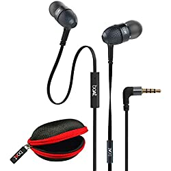 boAt BassHeads 225 Special Edition in-Ear Headphones with Mic and Carrying Case (Black)