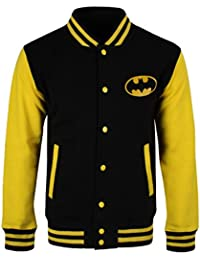 Batman Gotham City Cazadora tipo universitario negro/amarillo