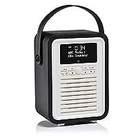 VQ Retro Mini DAB & DAB+ Digital Radio with FM, Bluetooth & Alarm Clock �?? Black