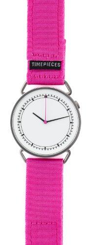 Rosendahl 43570 - Reloj analógico de cuarzo unisex, correa de nailon color rosa
