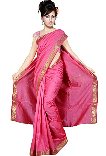 Generic The Fabrics Station Bollywood Designer Indische Handgefertigte Kunst Seide Saree/Sari Wickeln für Party Wear, Hochzeit, Abend, Ehe,...