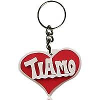 Portachiavi in legno con la scritta Ti Amo, a forma di cuore, fatto a mano, da indossare o come un regalo originale per San Valentino