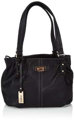 Gabor CORDOBA Handtasche 6964 60 Damen Schultertaschen 34x25x14 cm (B x H x T), Schwarz (schwarz 60)