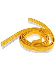 MagiDeal Correa Cinta De Taekwondo Cinturón Algodón Fieltro Artes Marciales Core Color TKD - Blanco + amarillo, 220cm
