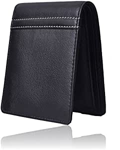 Accezory Genuine Leather Wallet For Men- Black