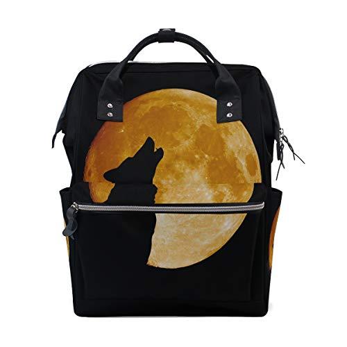 en bei Mitternacht Vollmond Große Kapazität Windel Taschen Mummy Rucksack Multi Funktionen Wickeltasche Tasche Tote Handtasche für Kinder Baby Care Travel Daily Women ()