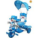Baybee Bonniecat 2 In 1 Trolly Cycle With Canopy With Parent Control Trolly Cycle For Kids/Baby ( Blue )