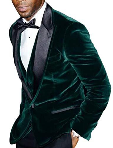 QZI Herren Dreiteiliger Anzug Freizeitsamt für Holiday Party Jacket mit Krawatte und Hose (Kostüm Homme Luxe)
