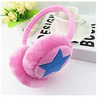 SUPRERHOUNG Lovely Five-Pointed Star Ear Warmer Plush Earmuffs Winter Accesorio Outdoor Earmuffs para Niños (Rosa) (Color : Pink, tamaño : 11.5cm)