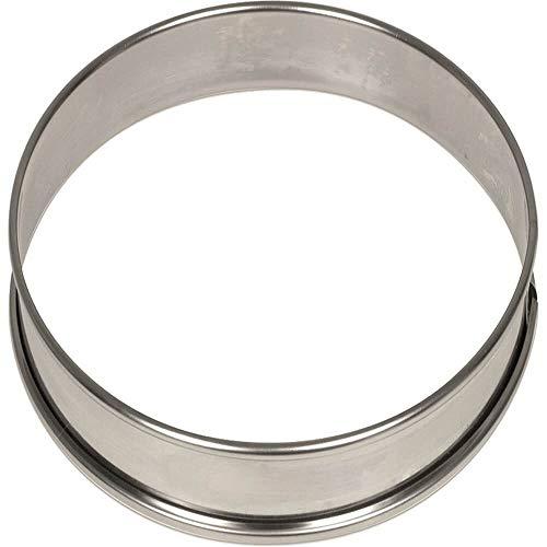 Matfer Bourgeat 371708 Tortenring, klein, 10,2 x 1,9 cm, 6 Stück Kleine Flan-ring