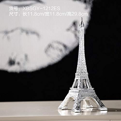 WPYAV Europäischen Stil Paris Tower Hintergrund Fotografie Requisiten Wohnkultur Möbel Silber Geschenke Harz Handwerk Drop Shipping, 29cm -