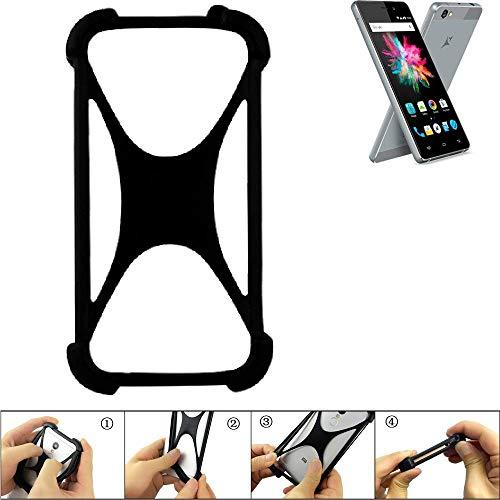 K-S-Trade Handyhülle Allview X3 Soul Mini Silikon Schutz Hülle Cover Case Bumper Silikoncase TPU Softcase Schutzhülle Smartphone Stoßschutz, schwarz (1x)