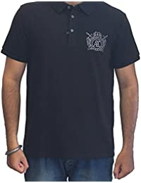 Armani Exchange Mens Short Sleeve Polo T-Shirts Colour Black IMPORTED FROM USA