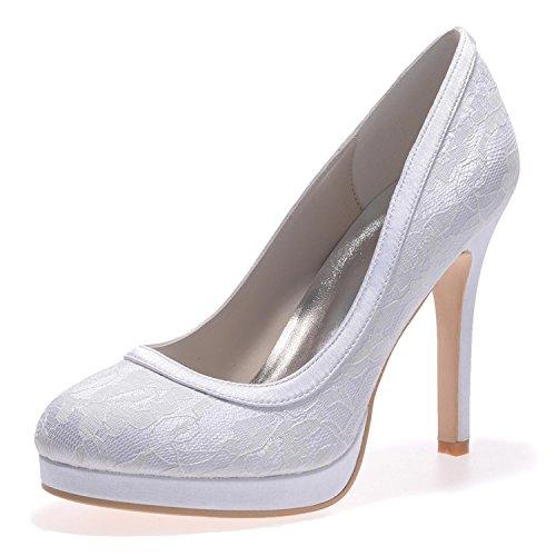 L@YC Tacchi alti Da Sposa In Seta Da Donna E6915-08 / # Outdoor / abbigliamento / Tempo Libero White