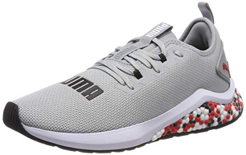 Puma Hybrid NX, Zapatillas de Running para Hombre, Gris (Quarry-High Risk Red...