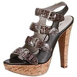 Sandalette von VIA UNO aus bestem Leder in Schwarz Gr. 39
