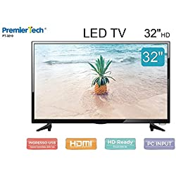 "PremierTech Tv 32"" pollici Led HD 16:9 DVB-T2 USB 3 HDMI PT-3210"
