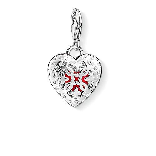 arm-Anhänger Medaillon Herz Charm Club 925 Sterling Silber rot 1313-007-10 ()