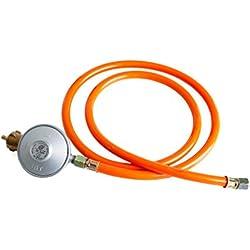 Gasdruckminderer (Niederdruckregler) mit Gasschlauch 30 mbar (Set)