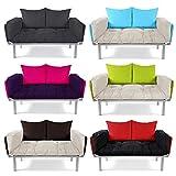 EasySitz Schlafsofa Sofa 2 Sitzer Kleines Couch 2-Sitzer Schlafsessel für Zweisitzer Personen Mein Futon Sitzen EIN Einer Farbauswahl